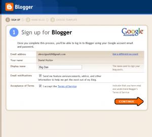 Blogger Signup 1